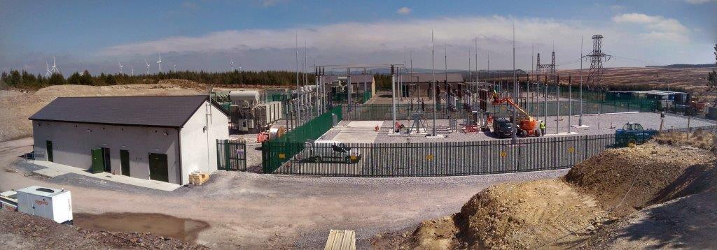 construction of Knockduff 110kv Substation