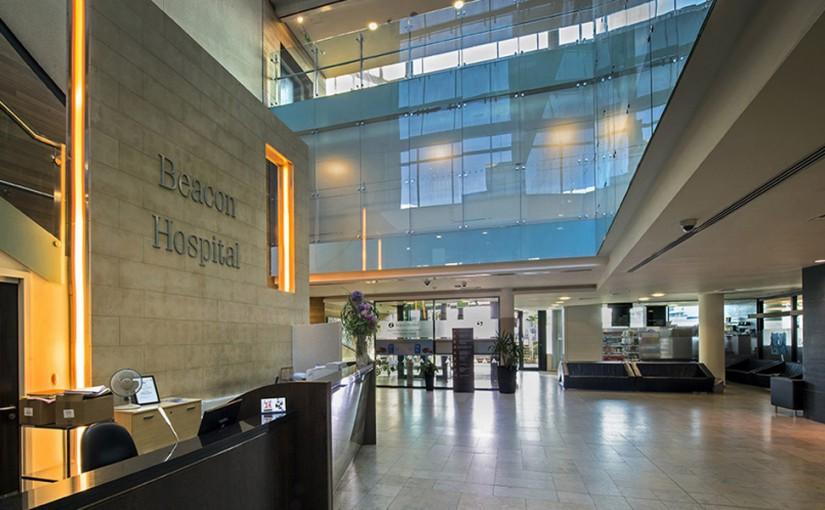Inside UPMC Beacon Hospital entrance area