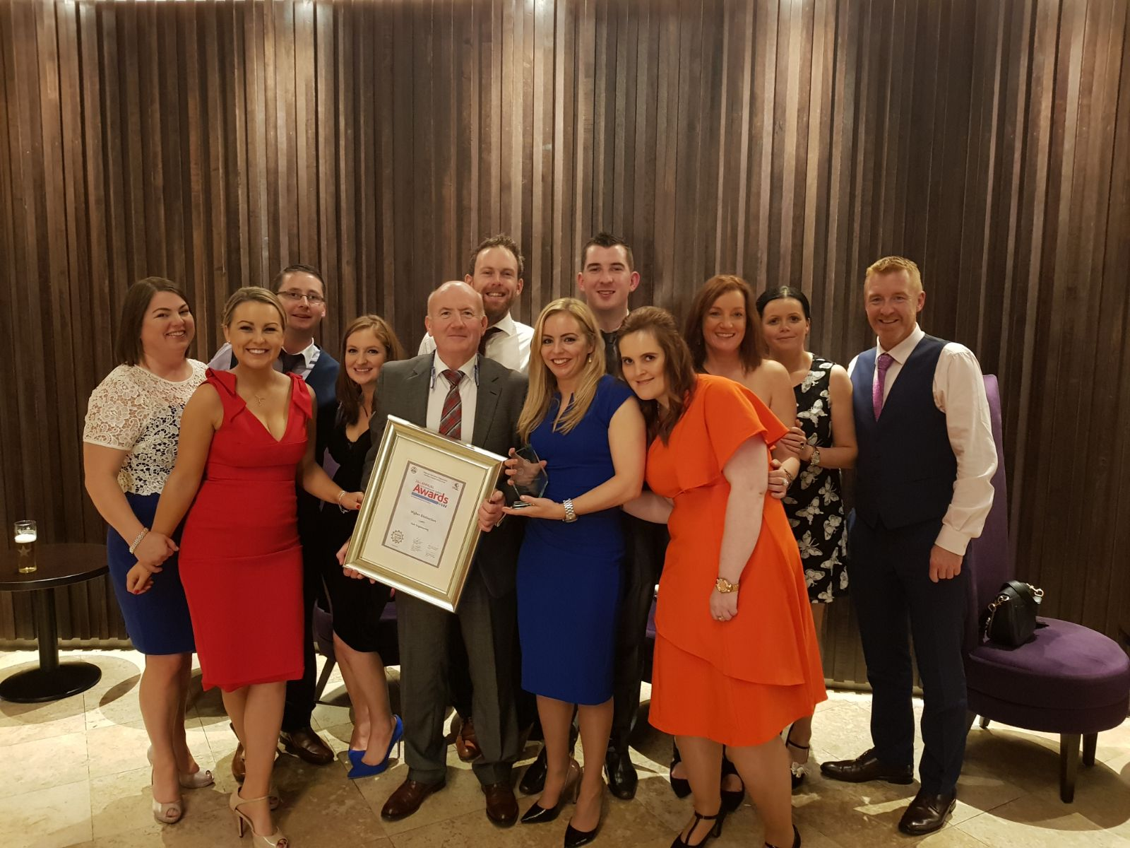 Some of the suir engineering team receiving the Higher Distinction NISO Award 2017