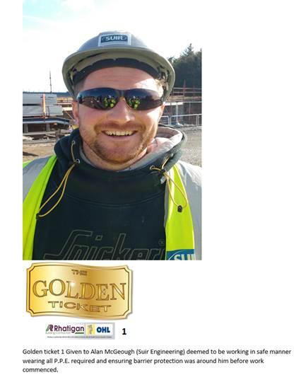 Alan McGeogh Rhatigan-OHL Golden Ticket Award for Safety
