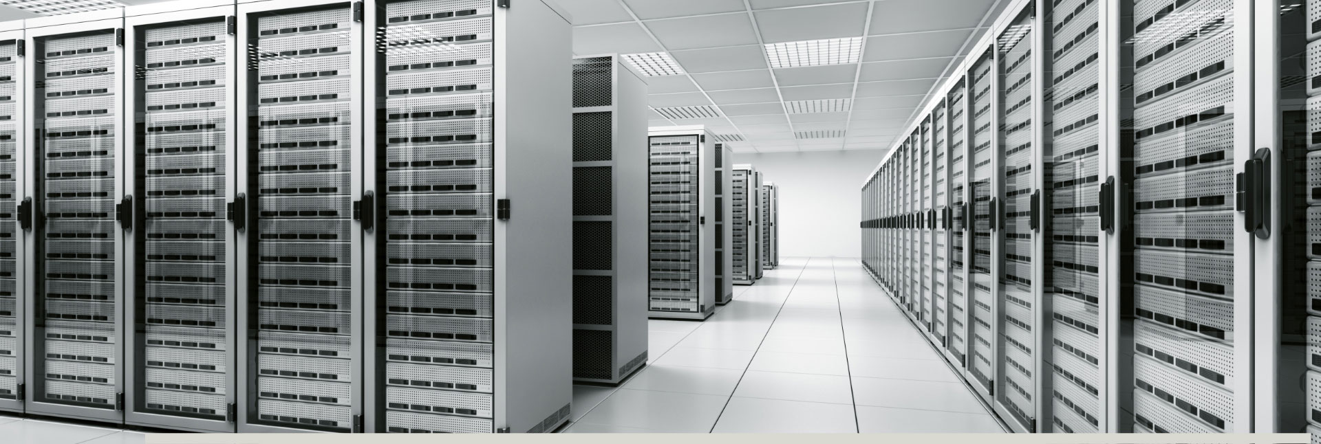 View inside a data centre