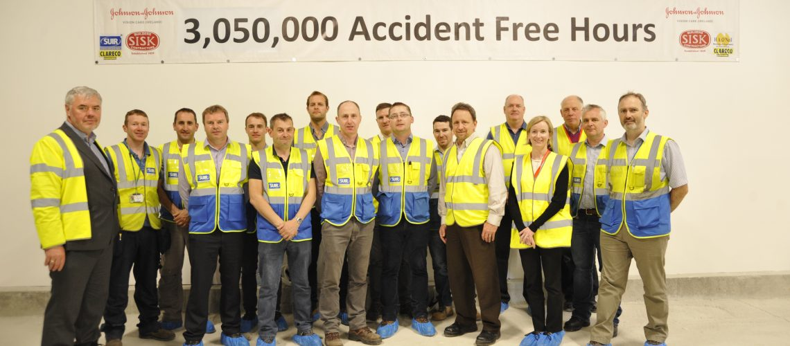 suir team celebrating 3.5 million hours accident free