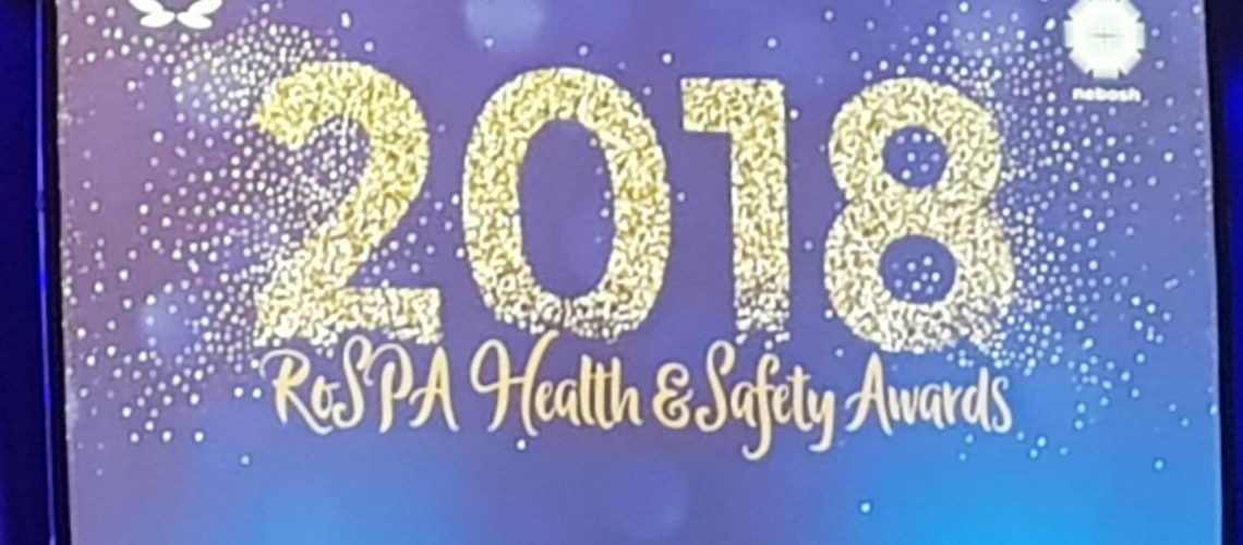 2018 ROSPA Health & Safety Awards stage